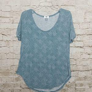 Old Navy Tee Shirt Size XL Blue Geometric